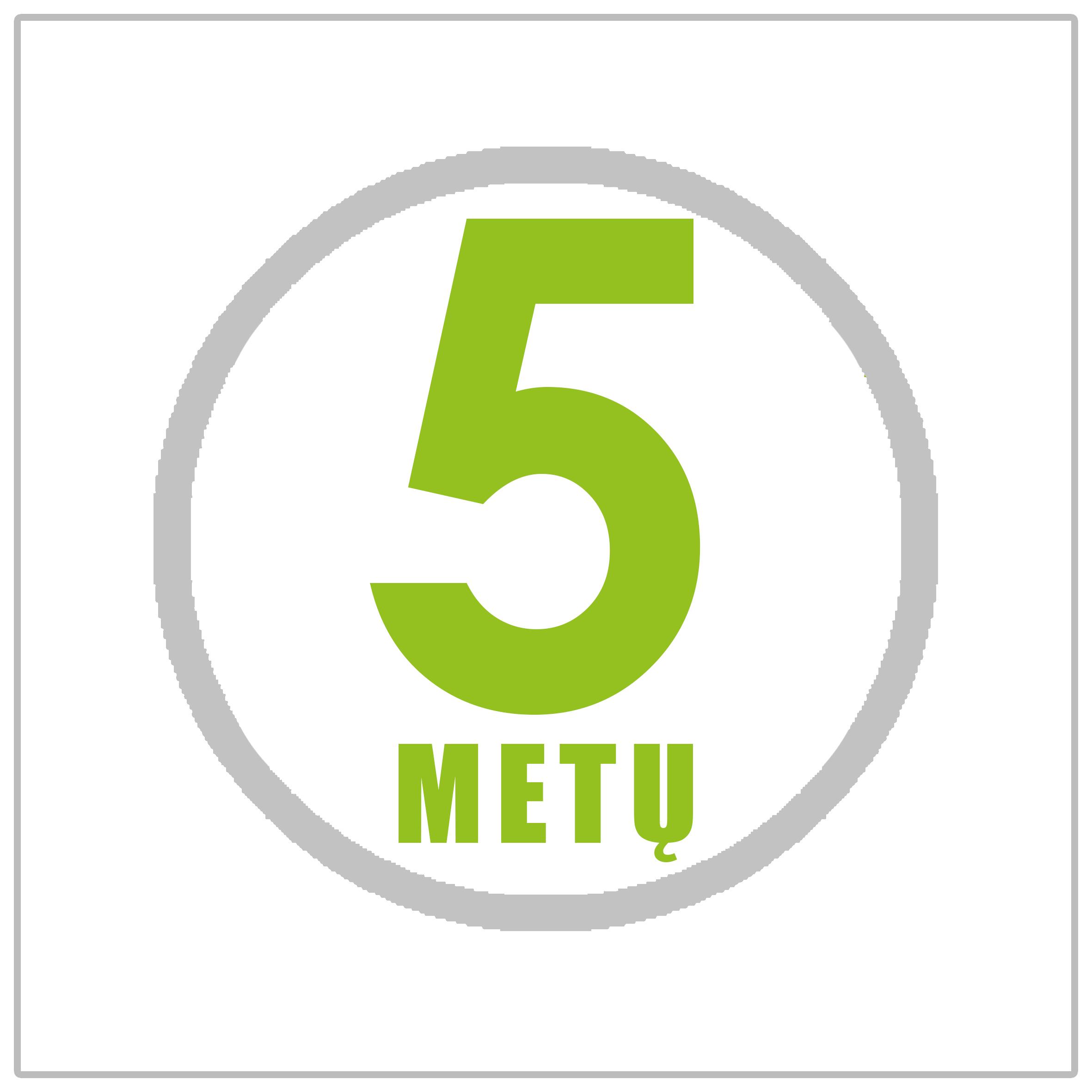 5 metų garantija