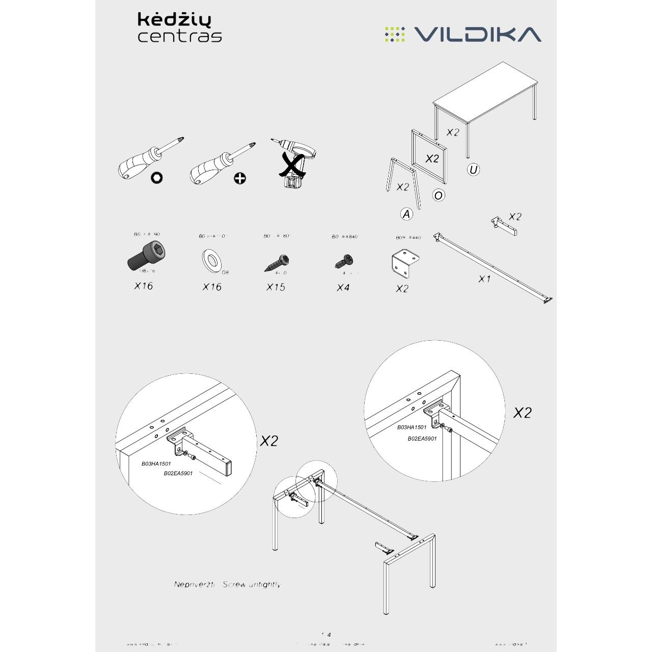 Biuro baldai UNIKA || Surinkimo instrukcija || Kėdžių centras