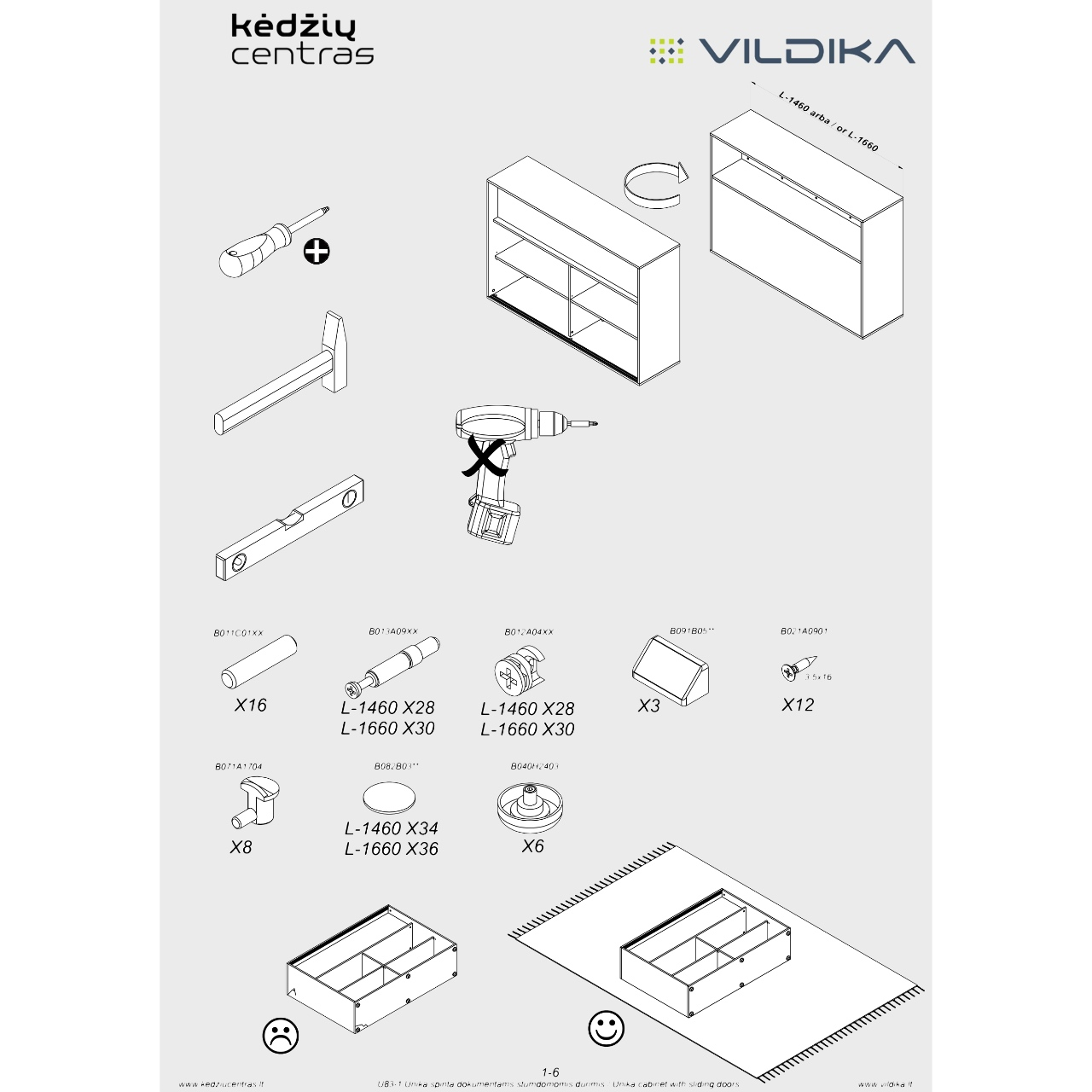 UNIKA biuro baldų surinkimo instrukcija || Biuro baladai internetu