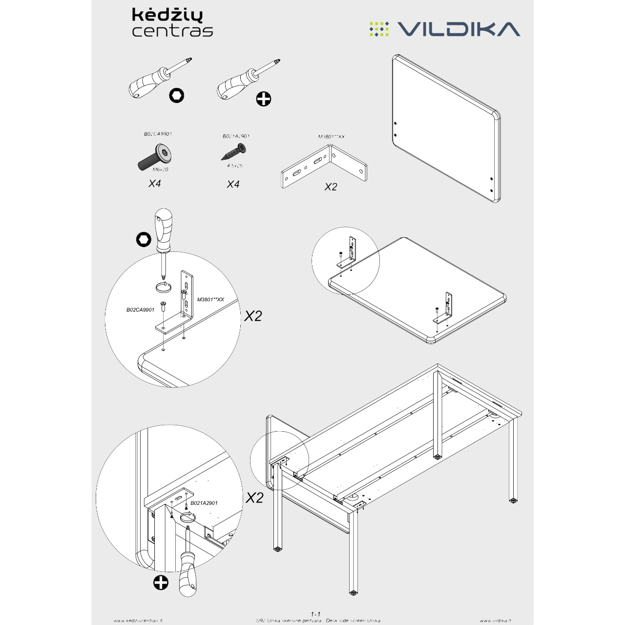 Biuro baldai || Biuro stalas || Akustinė stalo pertvara || Office furniture