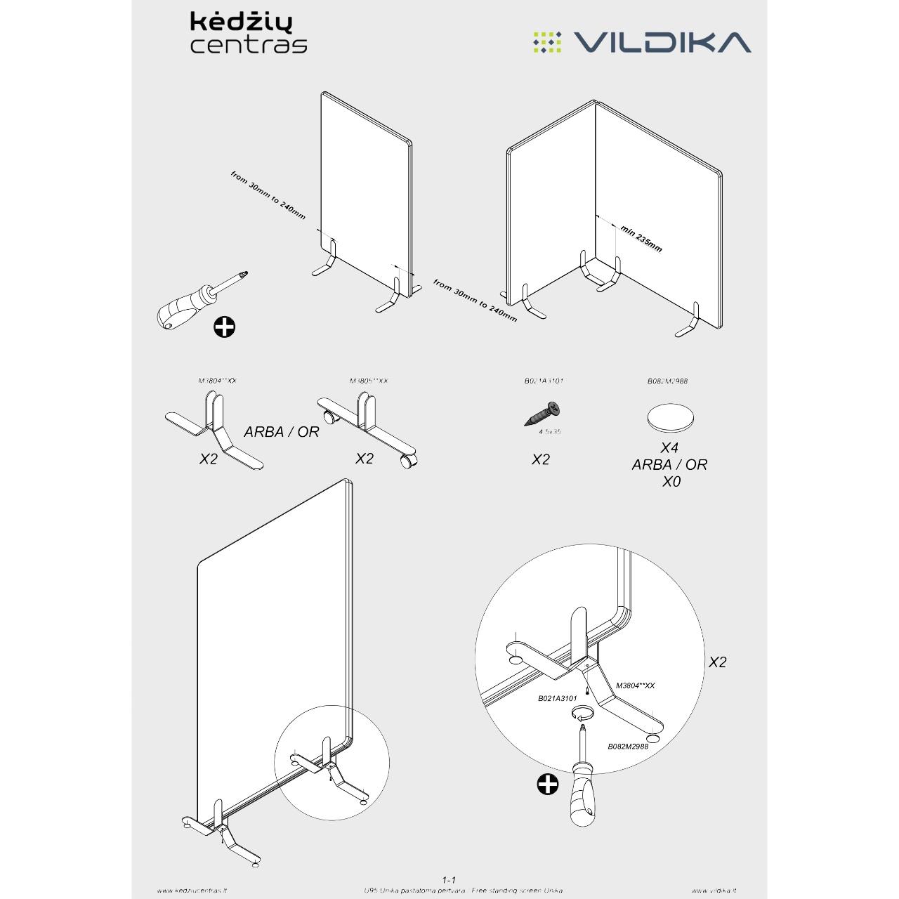 Biuro baldai || Biuro stalas || Akustinė pastatoma pertvara || Office furniture