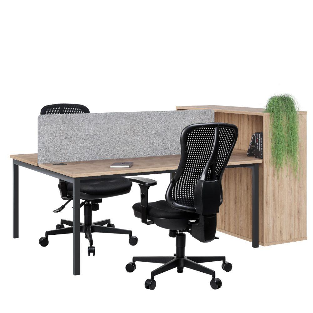 Dviejų darbo vietų baldų komplektas || Kėdžių centras