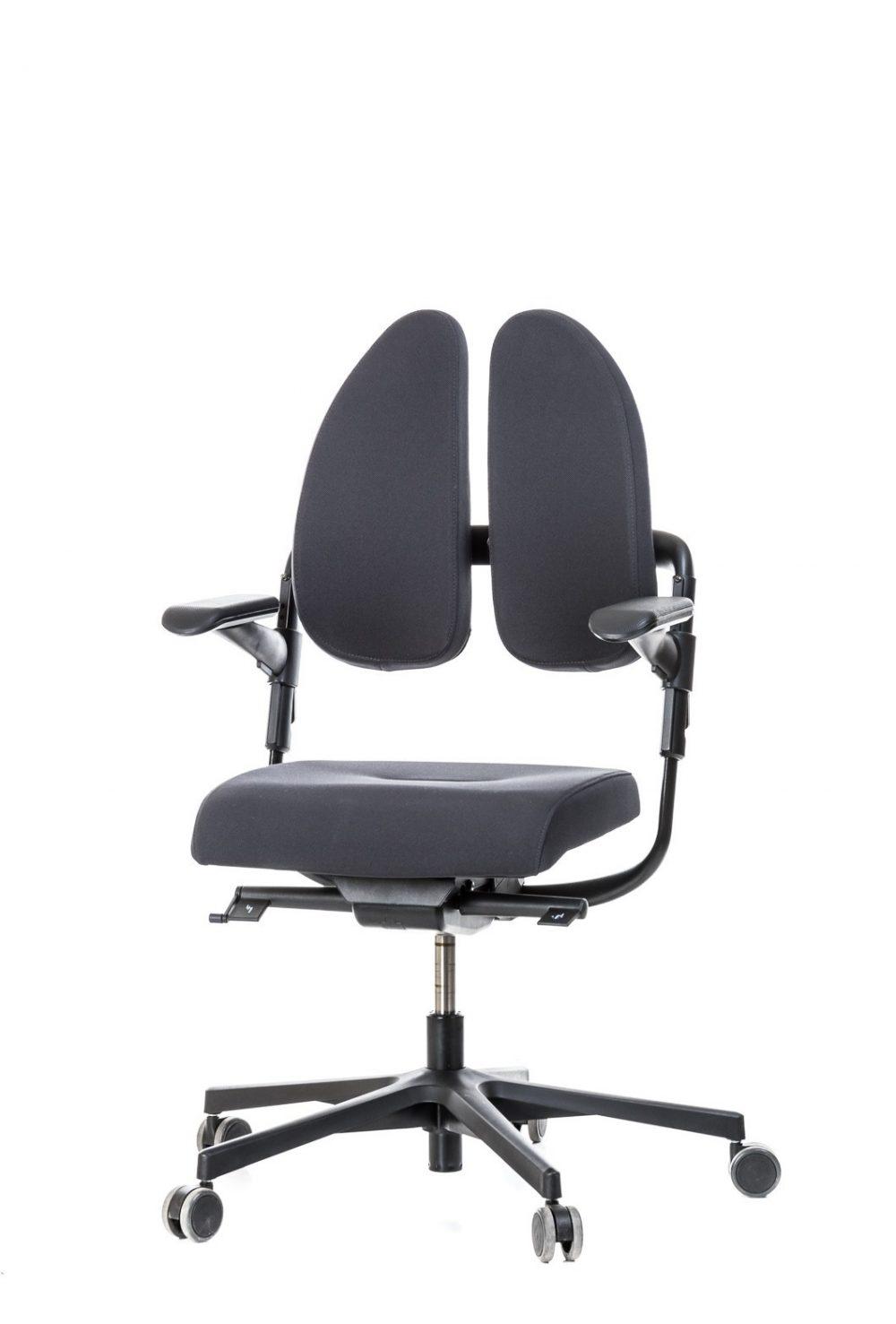 Vadovo kėdė - XENIUM-DUO BACK® be pogalvio-Pilka-0