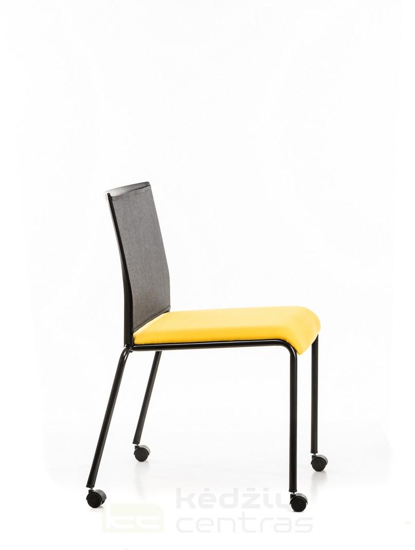 Lankytojo kėdė su ratukais || Konferenciniai baldai || Biuro kėdės || Visitors chair