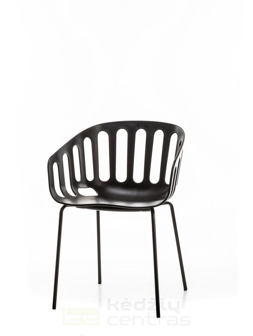 Lankytojo kėdė BASKET-Juoda-0