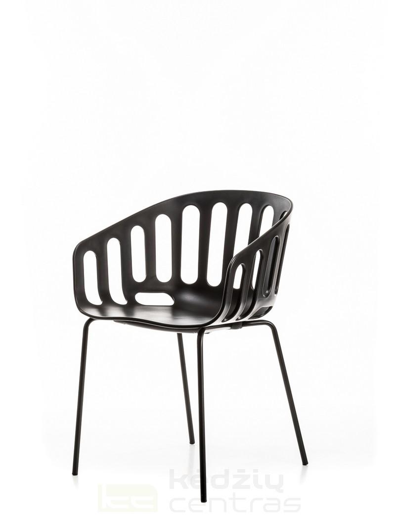 Lankytojo kėdė BASKET-Juoda-6046