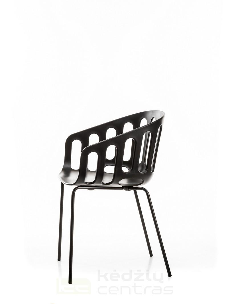 Lankytojo kėdė BASKET-Juoda-6048