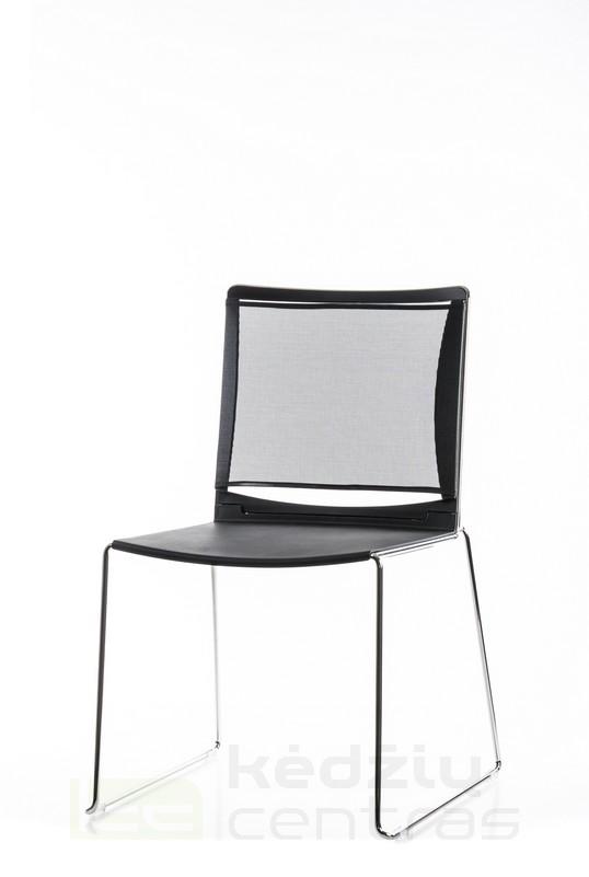 Lankytojo kėdė FILO NET-Juoda-0