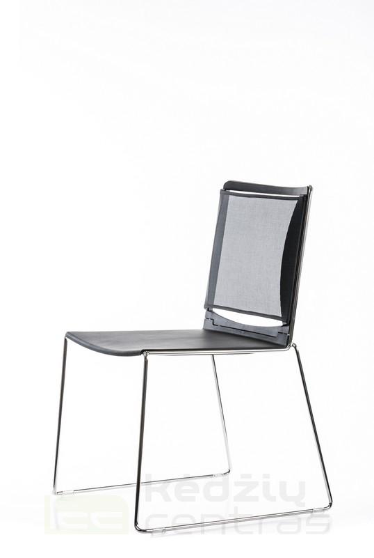 Lankytojo kėdė FILO NET-Juoda-6607