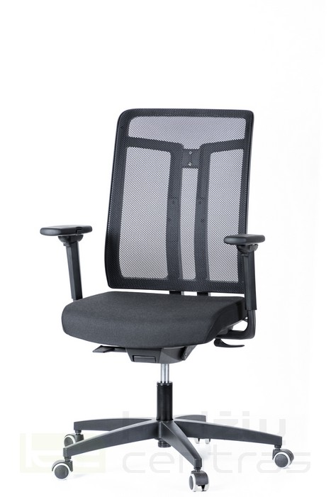 Biuro kėdė W7 – Juoda T20-0
