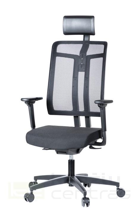 Biuro kėdė W7 su pogalviu – Juoda T20-0