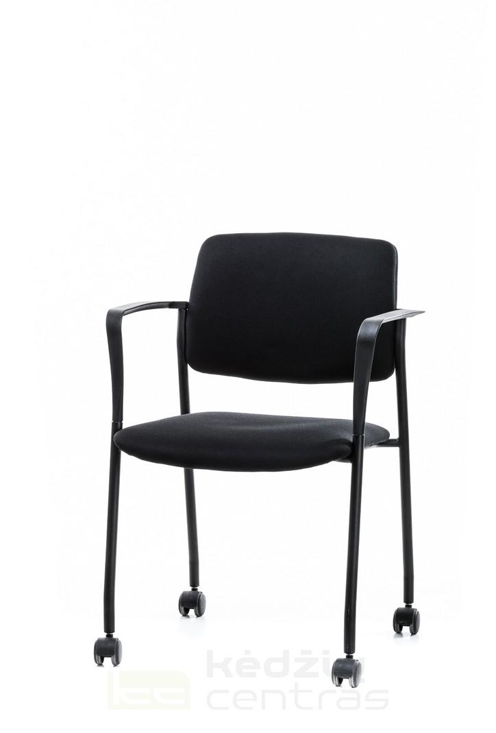 Lankytojo kėdė CUBE su ratukais-Juoda-0