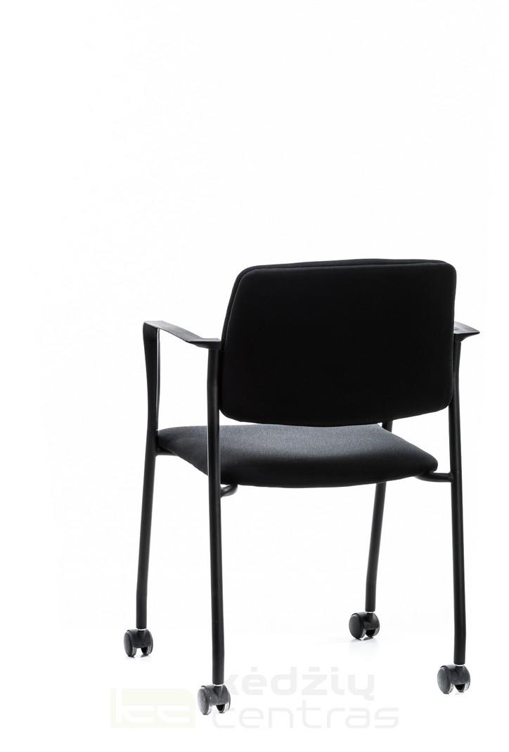 Lankytojo kėdė CUBE su ratukais-Juoda-5992