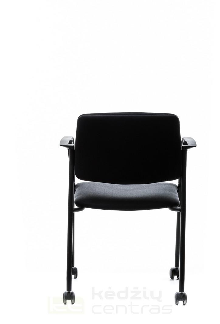 Lankytojo kėdė CUBE su ratukais-Juoda-5993