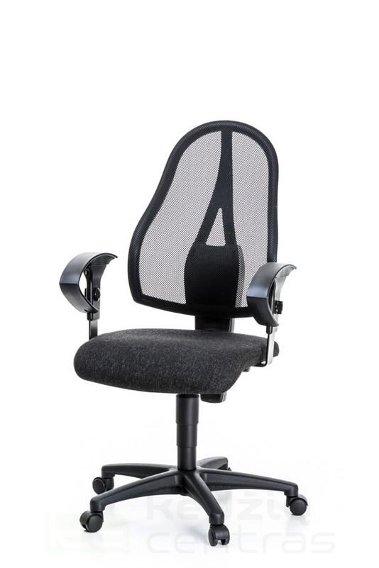 Biuro kėdė Open Point P su reguliuojamais porankiais – Tamsiai Pilka G22-0
