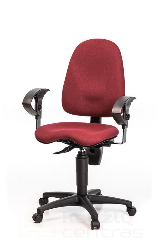 Biuro kėdė POINT 40 su porankiais – Vyšninė G27-0