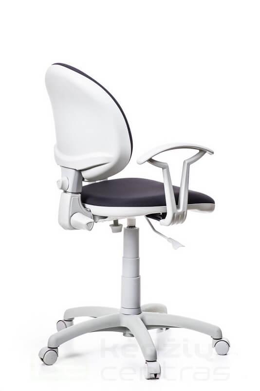 Biuro kėdė SMART su porankiais – Tamsiai Pilka SM02-4171