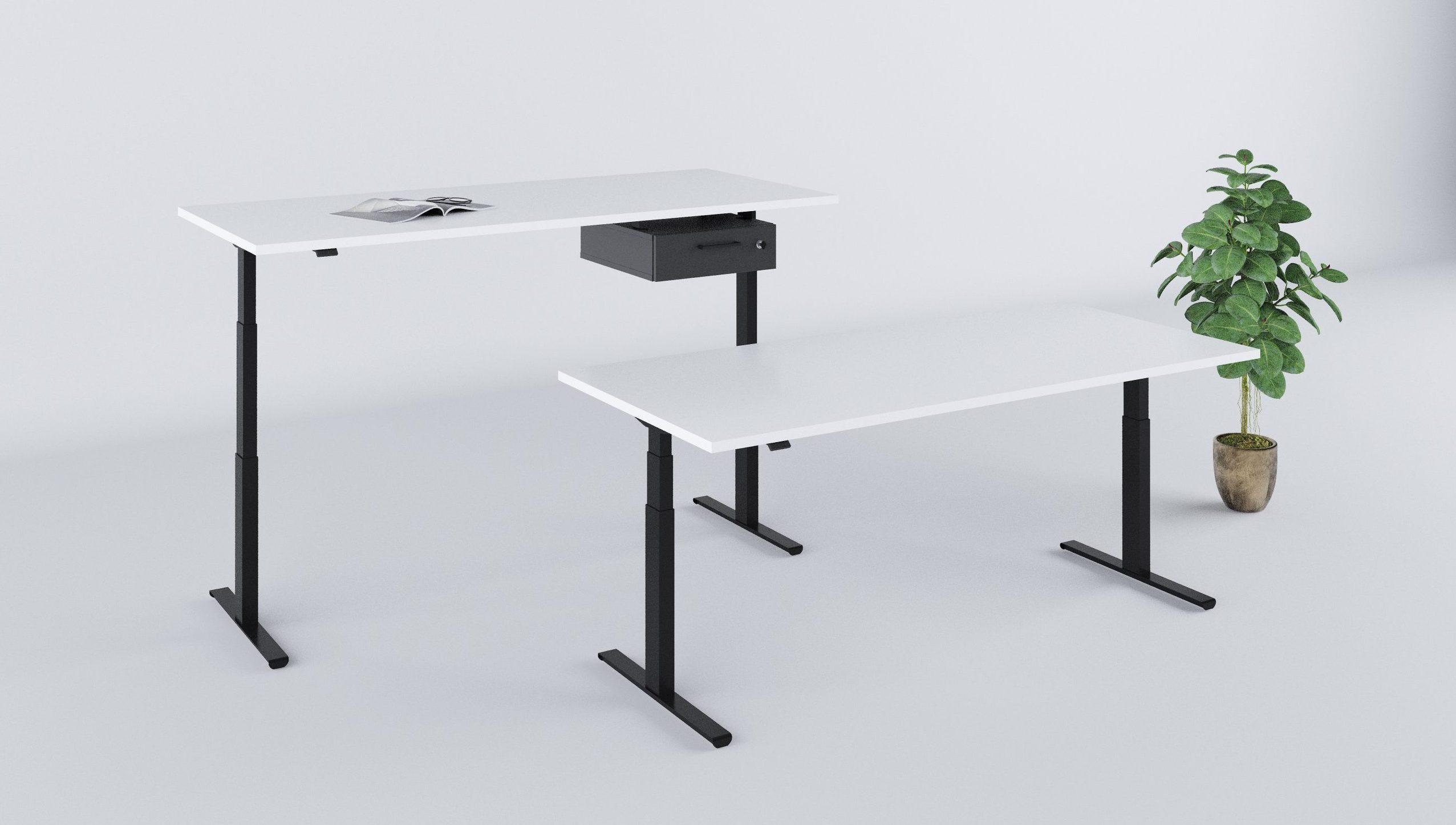 Biuro kėdės || Biuro baldai || Pakeliamas stalas || Pakabinamas vieno stalčiaus blokas